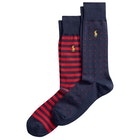 Polo Ralph Lauren Dot & Stripe 2 Pack Fashion Socks