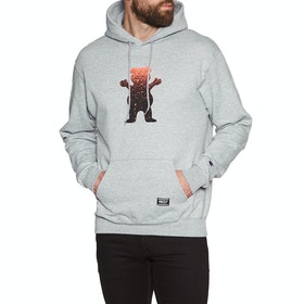 Pullover à Capuche Grizzly Og Bear Fadeaway Hood - Grey Heather