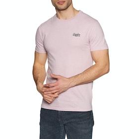 Superdry Orange Lable Vintage Embroidery Crew Short Sleeve T-Shirt - Chalk Pink Feeder