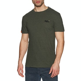 Superdry Orange Lable Vintage Embroidery Crew Short Sleeve T-Shirt - Desert Olive Space Dye