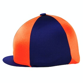 Hy Two Tone Lycra Hat Cover - Navy Orange