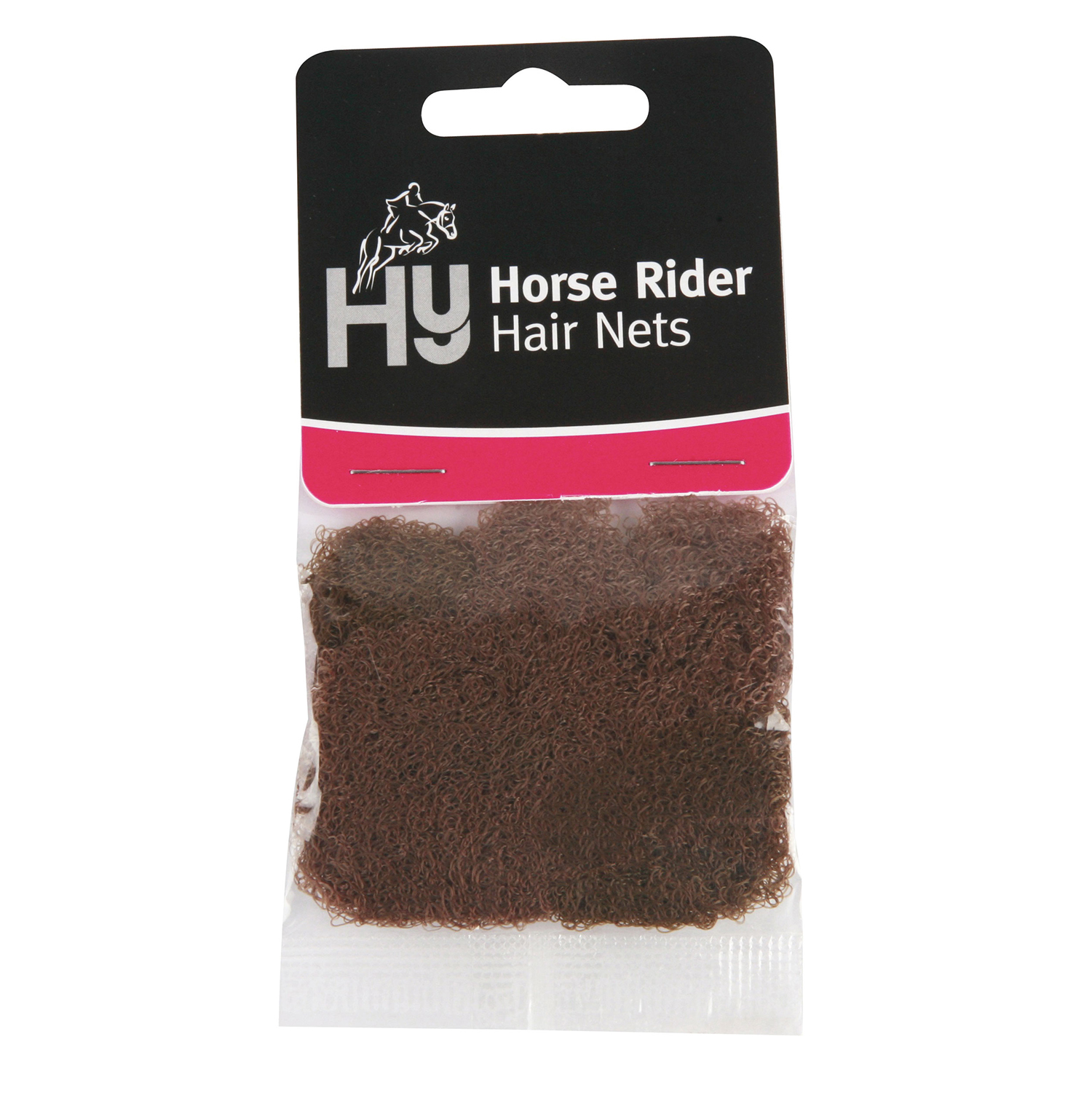 Blonde Brown Standard or Heavy Weight Competition Horse Riding Hair Net Black
