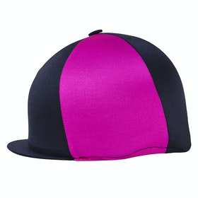Hy Two Tone Lycra Hat Cover - Black Pink