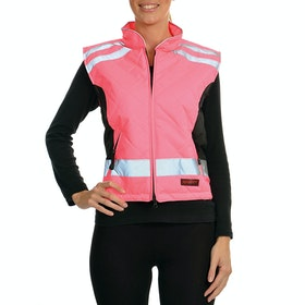 Equisafety Quilted Ladies Reflective Waistcoat - Pink