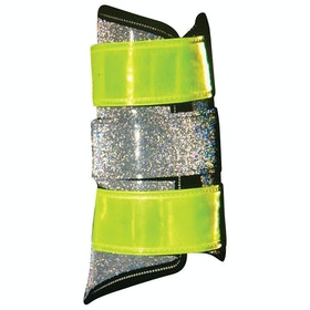 Equisafety Diamond Brushing Reflective Boots - Yellow