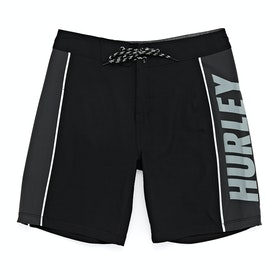 Hurley Phantom Fast Lane Solid Boys Boardshorts - Black