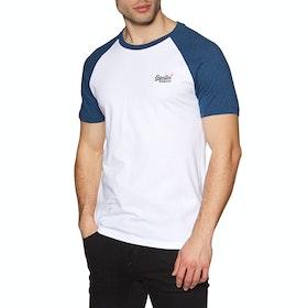 Superdry Orange Label Classic Baseball Short Sleeve T-Shirt - Optic