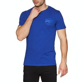 Superdry Vintage Logo Premium Goods Tonal Injection Short Sleeve T-Shirt - Vivid Cobalt
