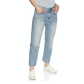 Jeans Femme Superdry High Rise Straight - Light Indigo Vintage