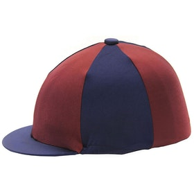 Hy Two Tone Lycra Hat Cover - Navy Burgundy