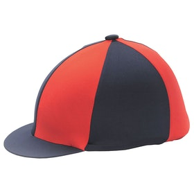 Hy Two Tone Lycra Hat Cover - Red Black