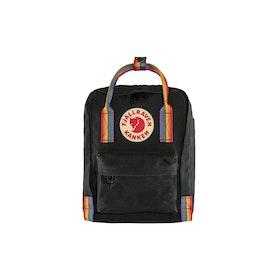Fjallraven Kånken Rainbow Mini Backpack - Black Rainbow Pattern