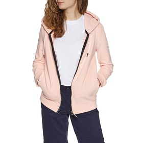 Sweat à Capuche avec Fermeture Éclair Femme Superdry Orange Label Elite - Dusty Pink