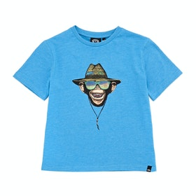 Animal Hangloose Boys Short Sleeve T-Shirt - Mediterranian Blue Marl