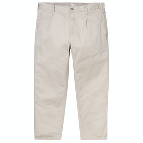 Spodnie chinos Carhartt Abbott - Wall Stone Washed