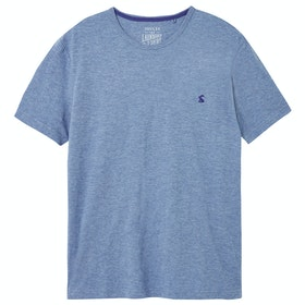 Joules Denton Short Sleeve T-Shirt - Blue Mid Marl