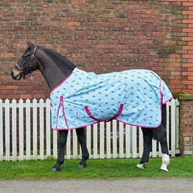 Derby House Pro Rainbow Lightweight Standard Turnout Rug - Cool Blue Cabaret
