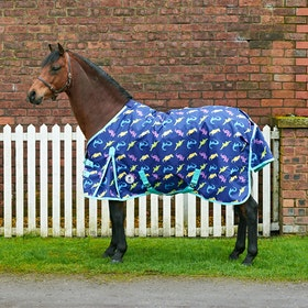 Derby House Pro Dino Lightweight Standard Turnout Rug - Blue Quartz Aqua Sky