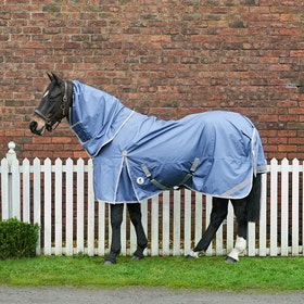 Derby House Elite Lightweight Detach A Neck Liner Compatible Turnout Rug - Velvet Morning Silver