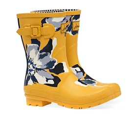 Joules Molly Women's Wellington Boots - Gold Floral