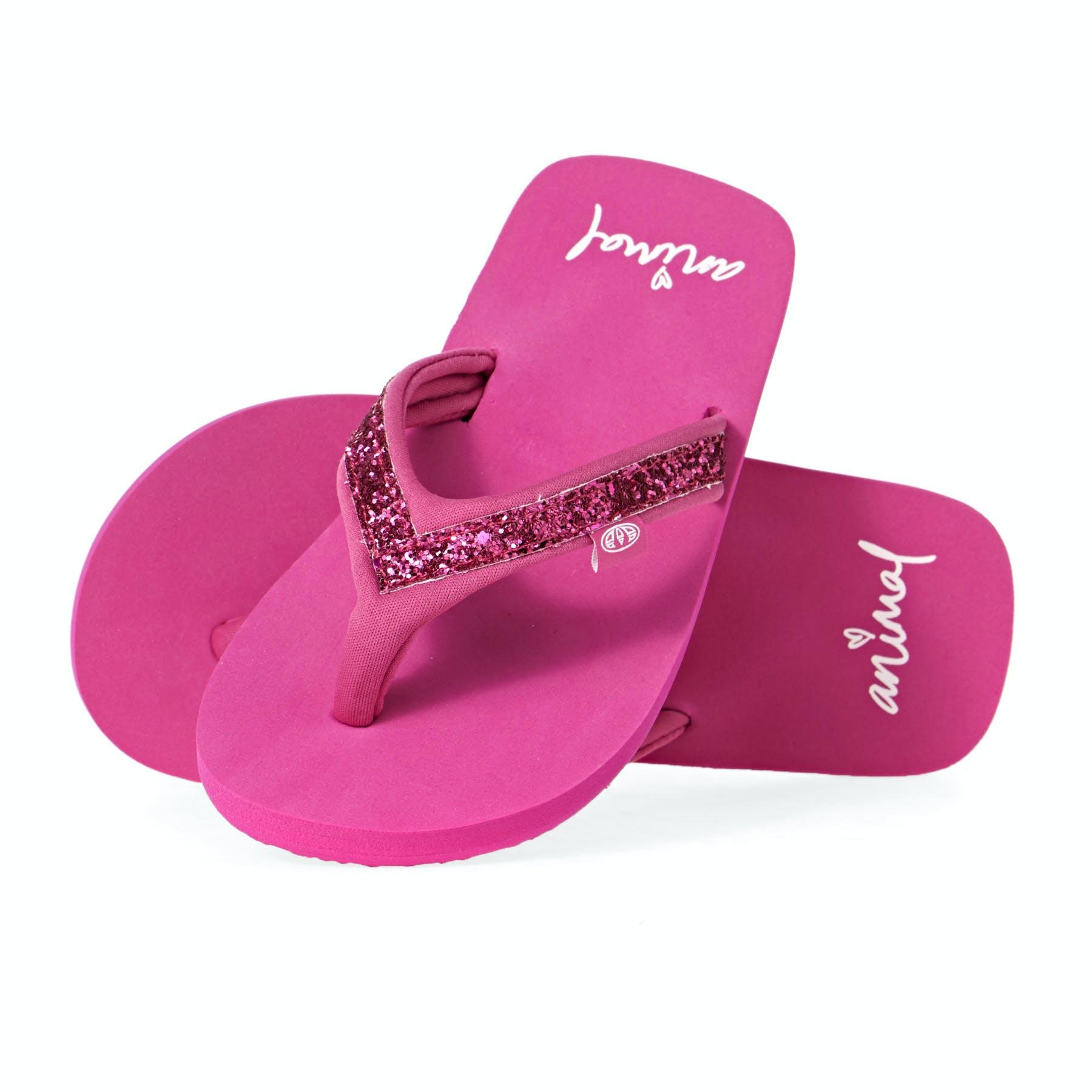 Island Club Toddler Girl/'s Caldi Flip Flops Pink//Rainbow #11510* 146N z NEW