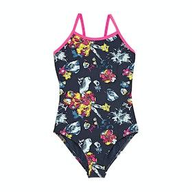 Animal Hanalei Girls Swimsuit - Indigo Blue