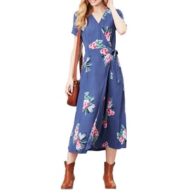 Joules Callie Print Dress - Floral Blue