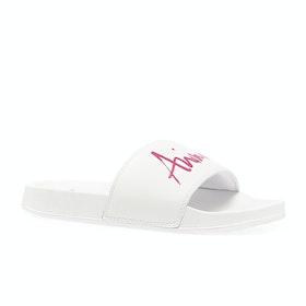 Animal Pinkie Womens Sliders - White