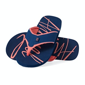 Sandales Femme Animal Swish Logo - Blueberry Navy Blue