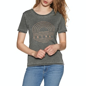 Animal Vintaged Womens Short Sleeve T-Shirt - Raven Black