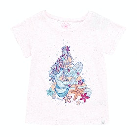 Animal Mermaid Girls Short Sleeve T-Shirt - White