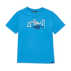 T-Shirt à Manche Courte Animal Sliced - Mediterranean Blue