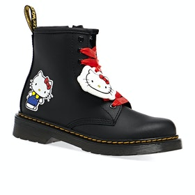 Dr Martens 1460 Hello Kitty Kids Boots - Black Hydro