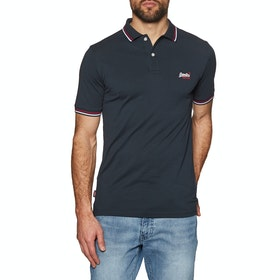 Superdry Classic Micro Lite Tipped Polo-Shirt - Eclipse Navy
