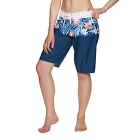 Boardshort Femme Animal Aloha June - Blueberry Navy Blue