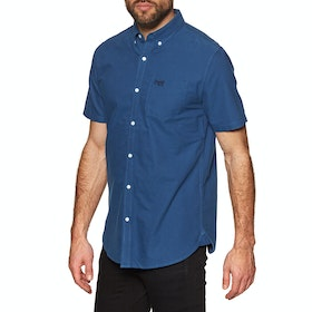Superdry Classic University Oxford Short Sleeve Shirt - Imperial Blue