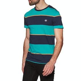 Superdry Collective Stripe Short Sleeve T-Shirt - Lapis