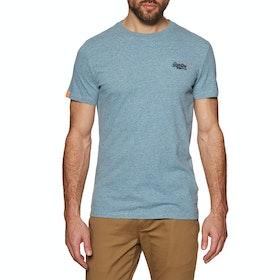 Superdry Orange Lable Vintage Embroidery Crew Short Sleeve T-Shirt - Desert Sky Blue Grit