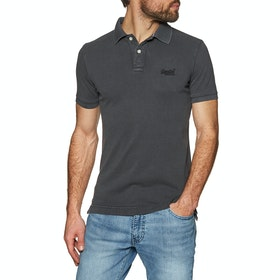 Chemise Polo Superdry Vintage Destroyed Pique - Vintage Black