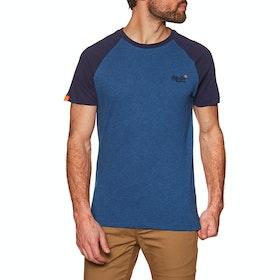 Superdry Orange Label Classic Baseball Short Sleeve T-Shirt - Rich Blue Marl