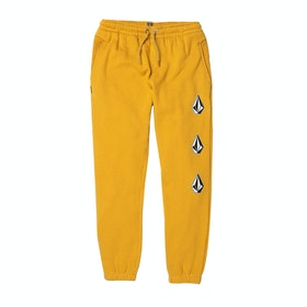 Volcom Deadly Stones Fleece Boys Jogging Pants - Gold