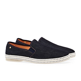 Rivieras Dark Blue Jeans Men's Espadrilles - Dark Blue Denim