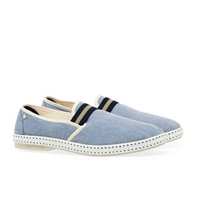 Espadrillas Uomo Rivieras Oxford - Blue