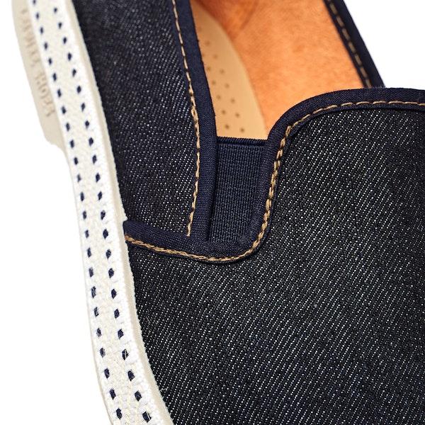 Rivieras Dark Blue Jeans Мужчины Эспадрильи