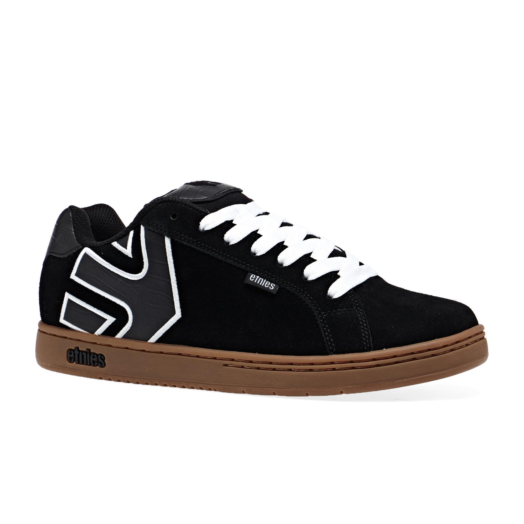 Détails sur Etnies Fader Homme Chaussures Chaussure Black White Gum Toutes Tailles