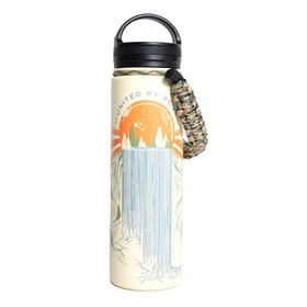 United by Blue Rolling Waters 22oz Insulated Steel Water Bottle Flask - Cream