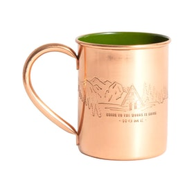 Кружка United by Blue To The Woods 14oz Copper Enamel Lined Mug - Alpine Green