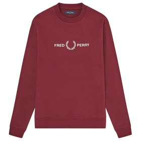Maglione Fred Perry Graphic - Tawny Port