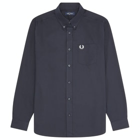 Fred Perry Oxford Hemd - Navy