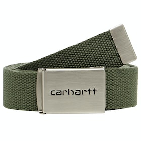 Carhartt Clip Chrome Netzgürtel - Dollar Green